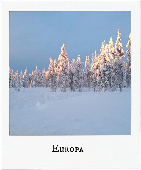 Schnee in Finnland - Europa