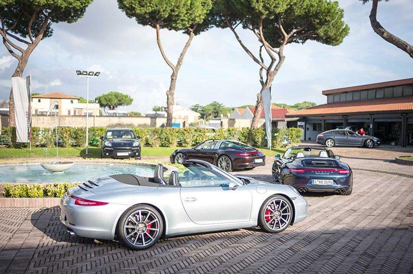 Mit dem Porsche durch Rom bis nach Fiuggi