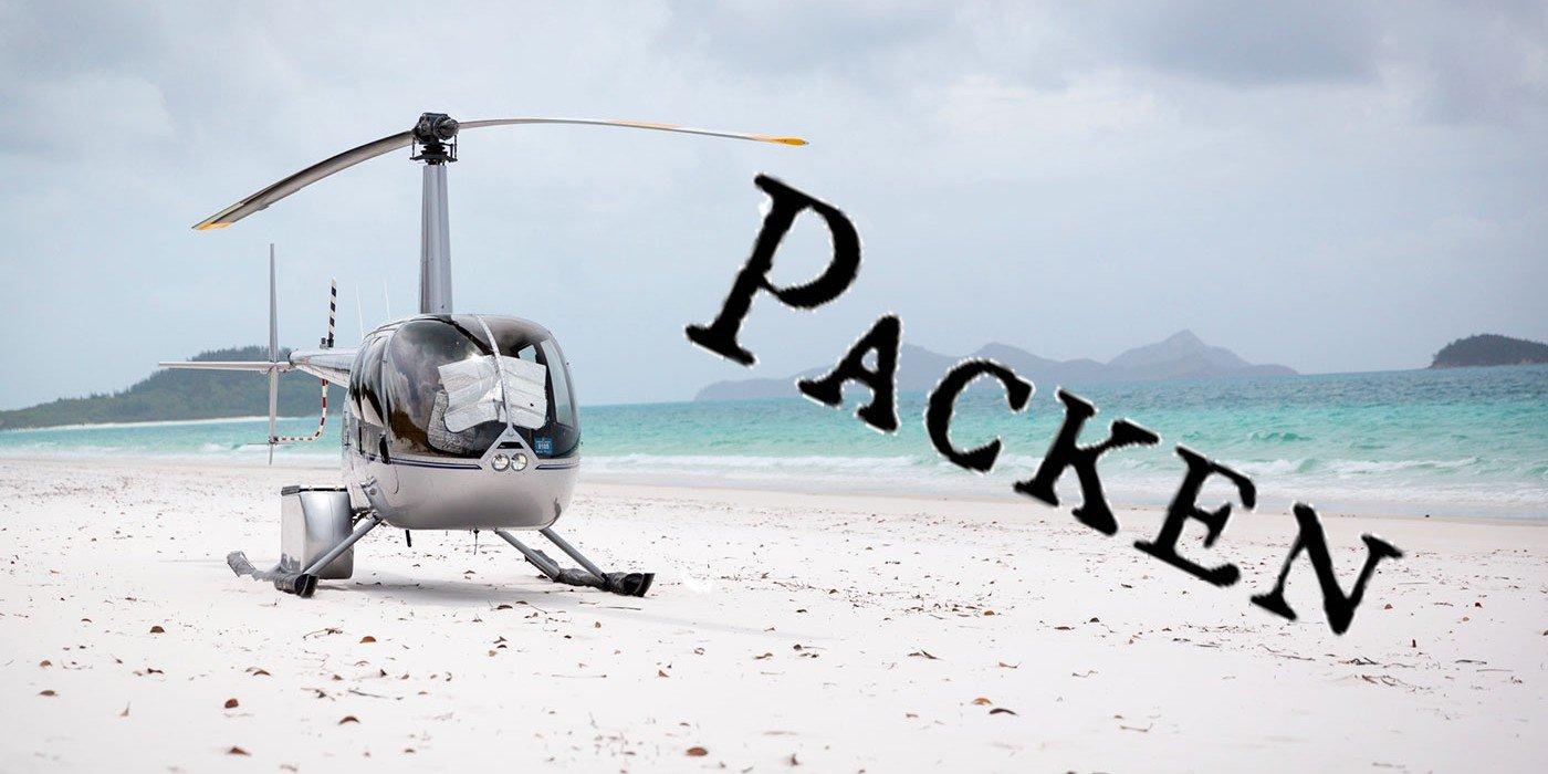Hubschrauber am Strand
