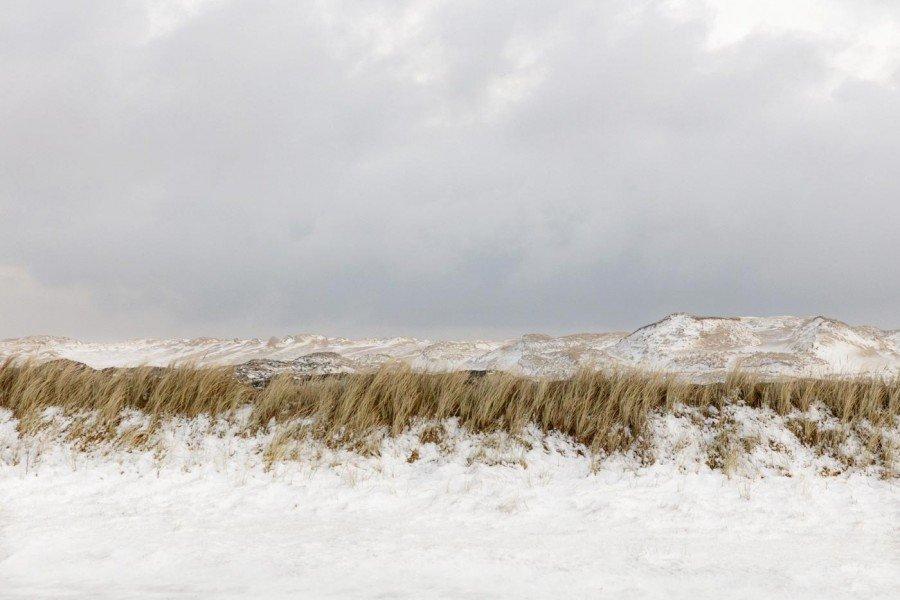 Dünen im Schnee Sylt im Winter