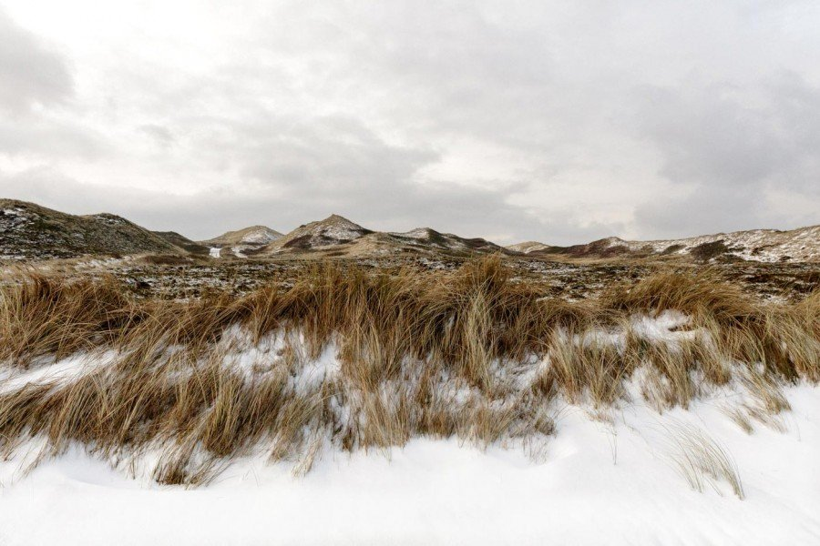 Sylt im Winter mit Schnee