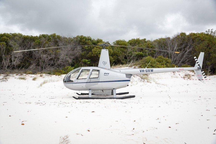 Hubschrauber am Whitehaven Beach