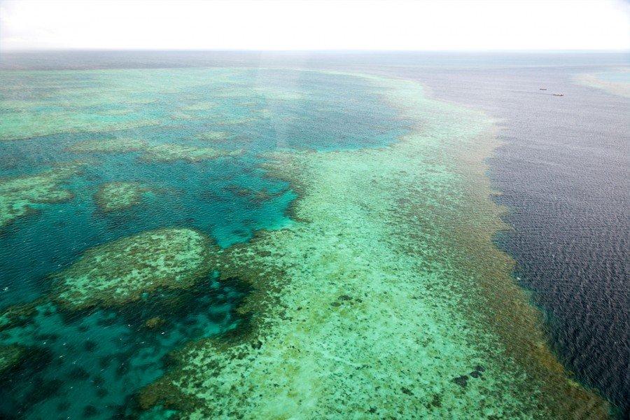 Great Barrier Reef aus dem Hubschrauber