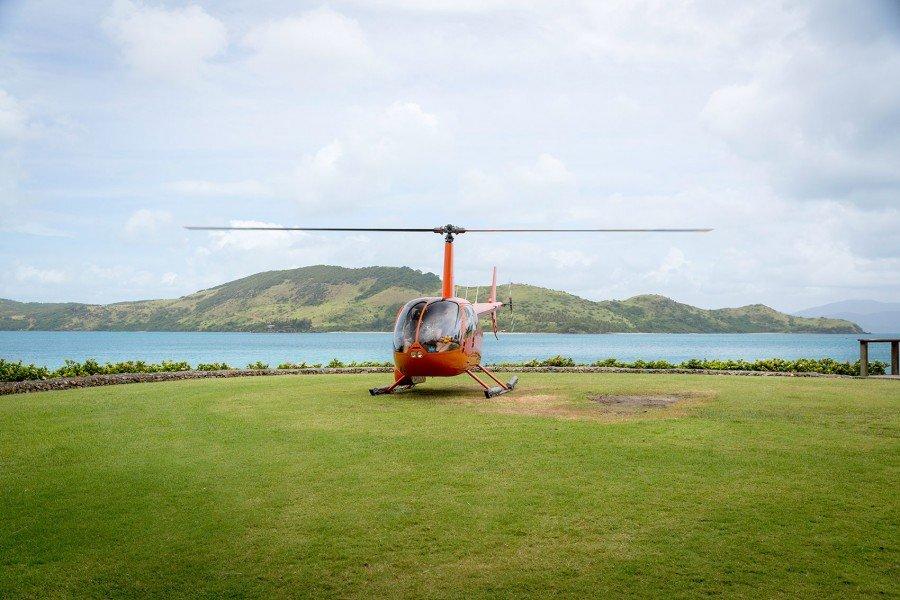 Hubschrauberlandeplatz Qualia Resort.