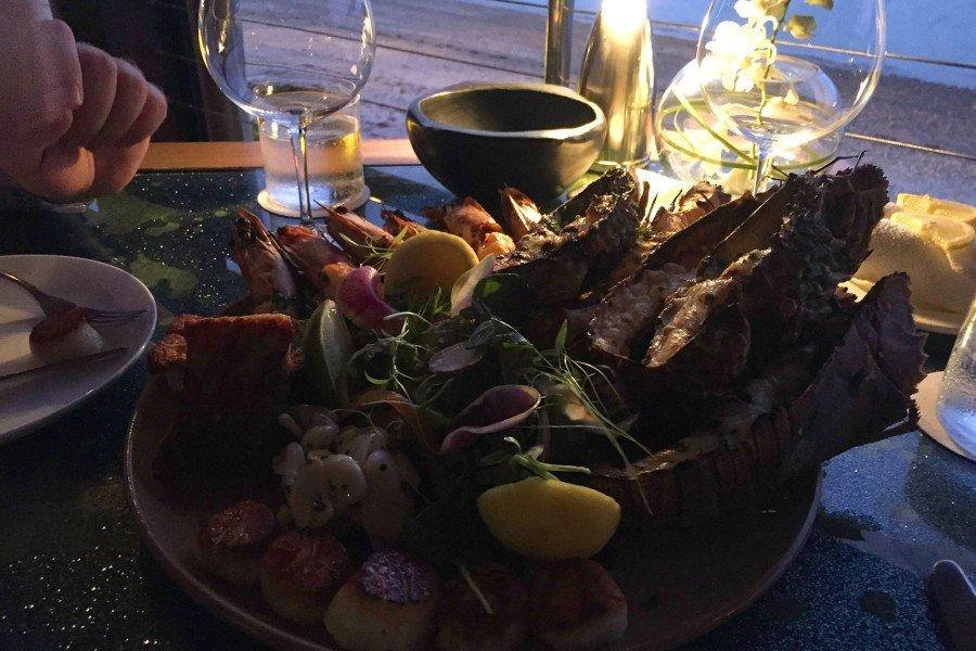 Seafood Platte im Restaurant des Qualia Resorts.
