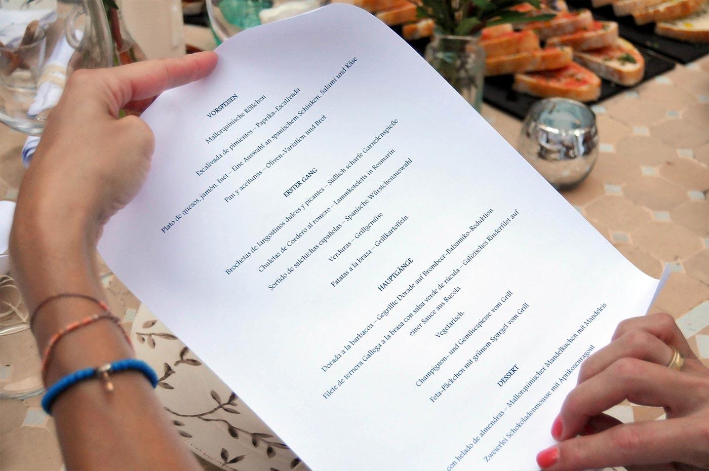 Das BBQ Dinner zur Hochzeit auf Mallorca