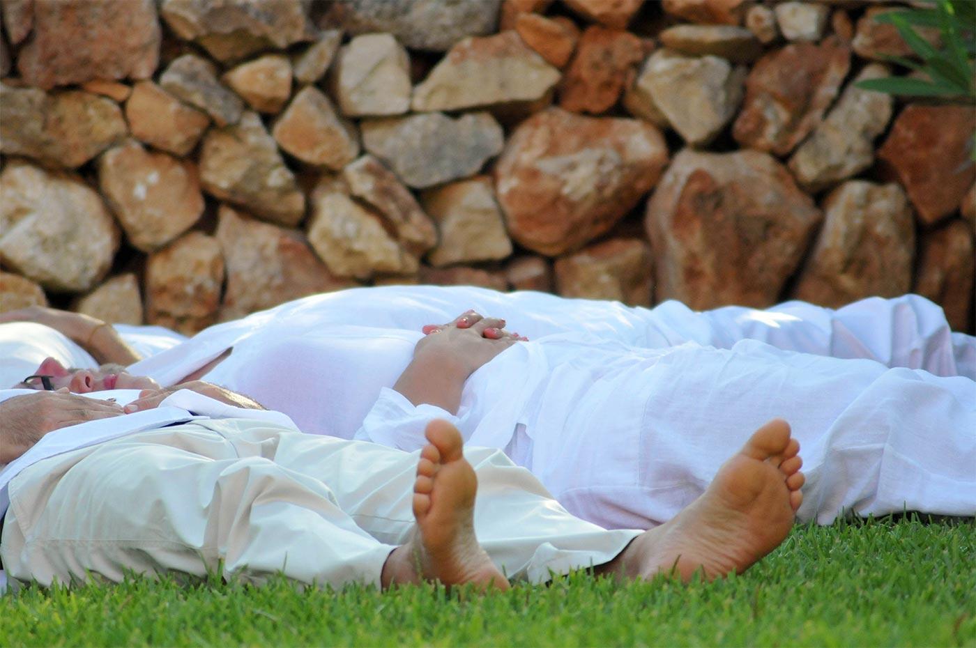 Trauungszeremonie mit Meditation