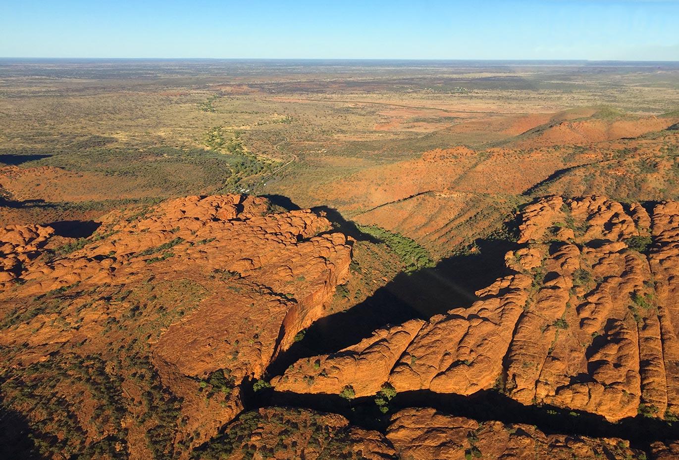 Der australische Kings Canyon von oben.