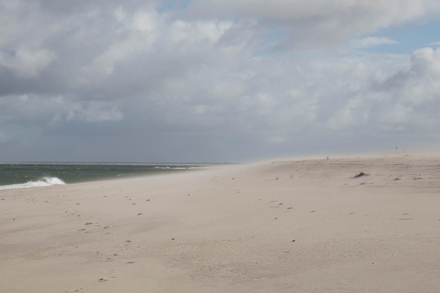 Sylt Strand Sandsturm