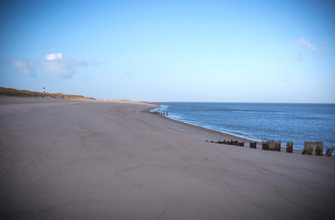 Strand mit Buhne am Ellenbogen Sylt