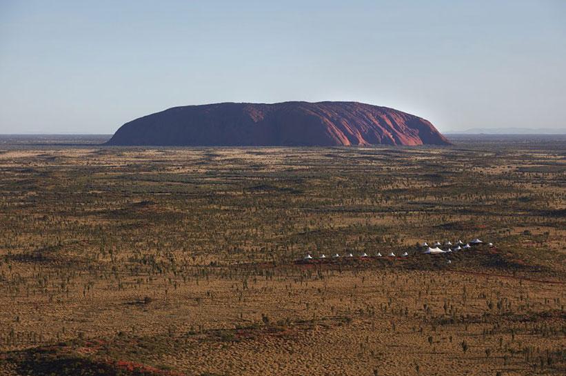 Longitude 131 am Uluru von oben