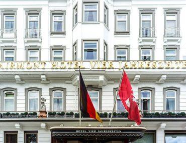 Hotel Vier Jahreszeiten Hamburg Außenansicht