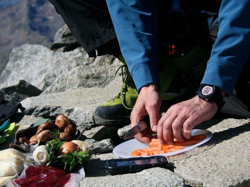 Kochen auf dem Berg Zuckerhütl