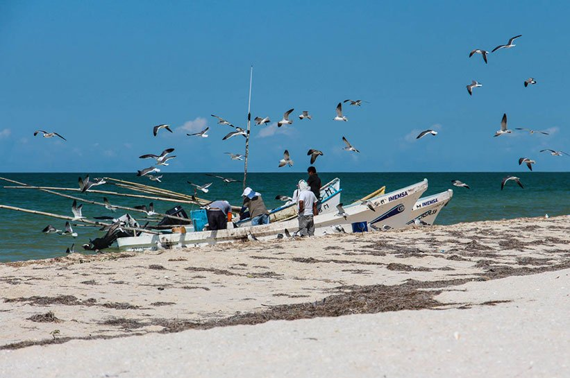 Fischerboot Yucatan