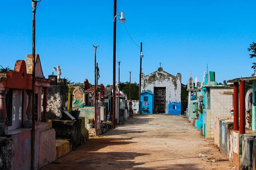 Yucatan Friedhof Reisebericht über Yucatan
