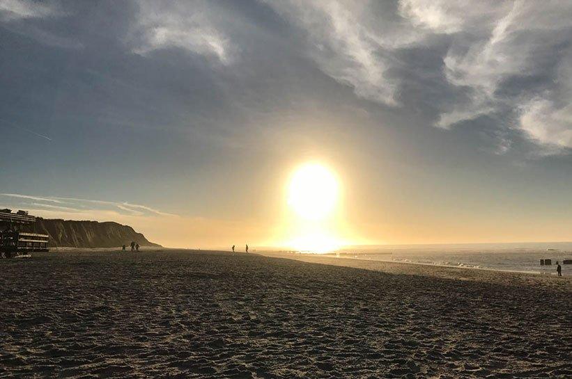 Kampen Sonnenuntergang Sylt im November