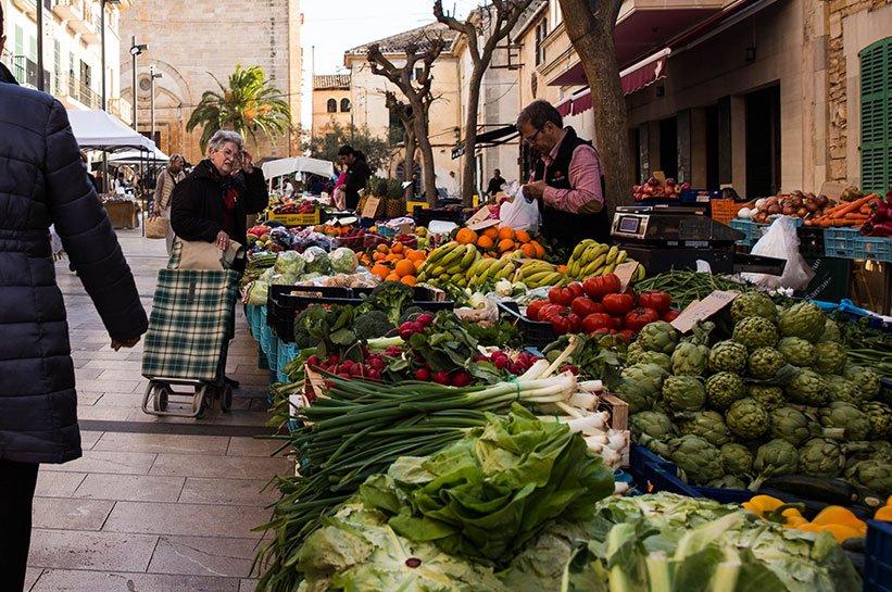 Ausflugsziele Mallorca Santanyi Markt