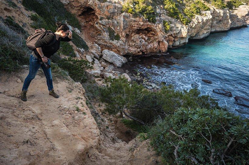 Schwieriger Weg zum Calo des Moro Strand