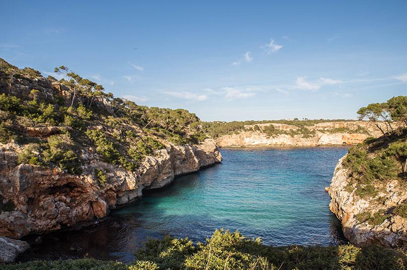 Bucht nahe Santanyi Mallorca
