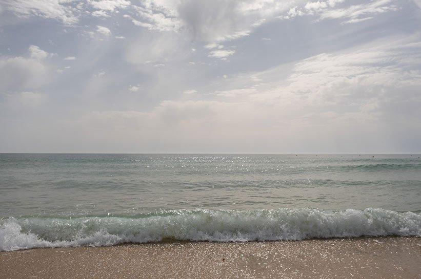 Algarve Atlantik Schwimmen Herbst