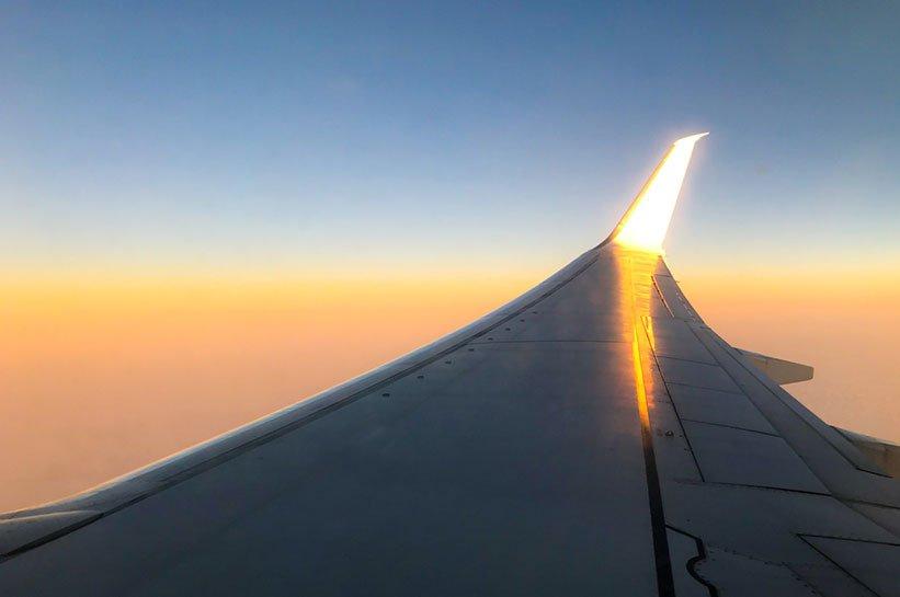 Flug nach Faro im Herbst