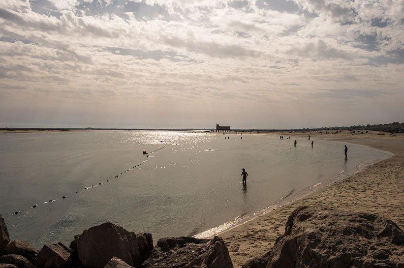 Algarve im Oktober Fuseta Strand