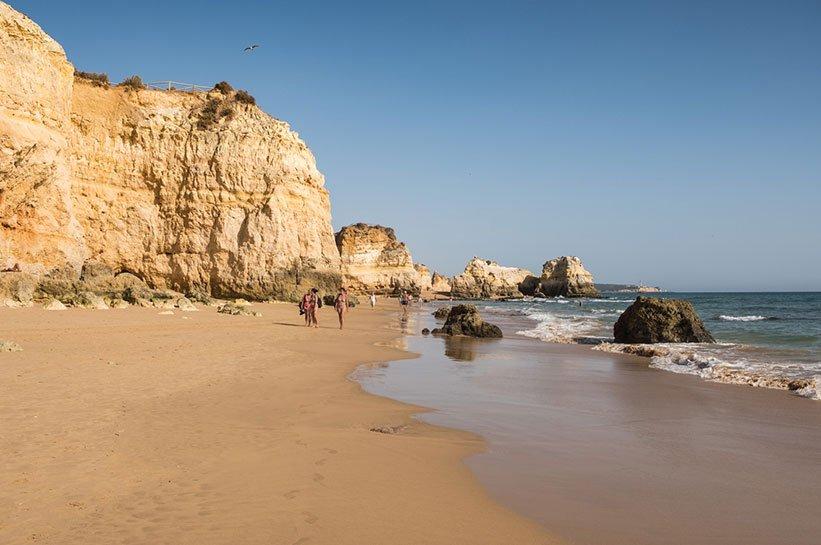 Algarve Herbst Felsenküste