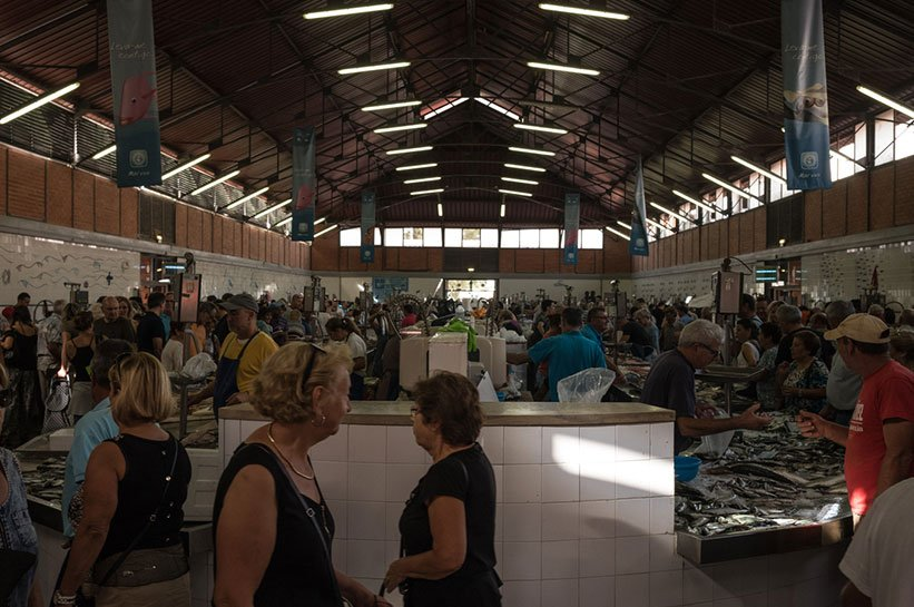 Markthalle Olhao Samstags