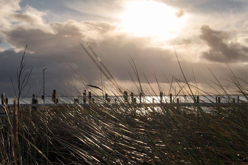 Hafen Munkmarsch im Sonnenuntergang