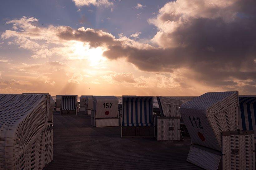 Sonnenuntergang in Kampen am roten Kliff