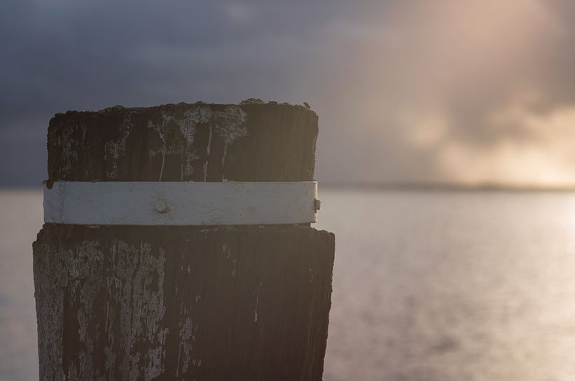 Romantische Stimmung am Hafen Munkmarsch