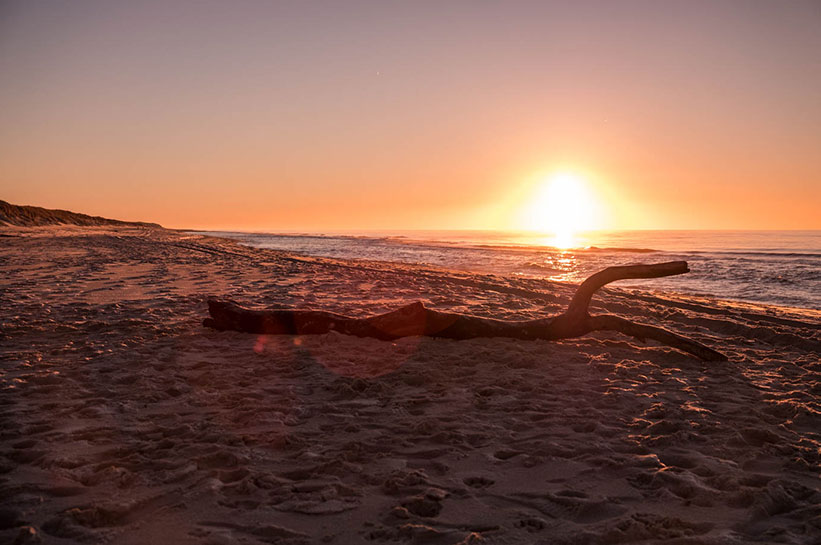 Sonnenuntergang auf Sylt in List
