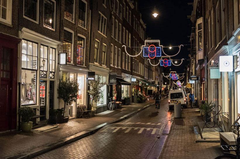 Amsterdam Weihnachtliche Straßen