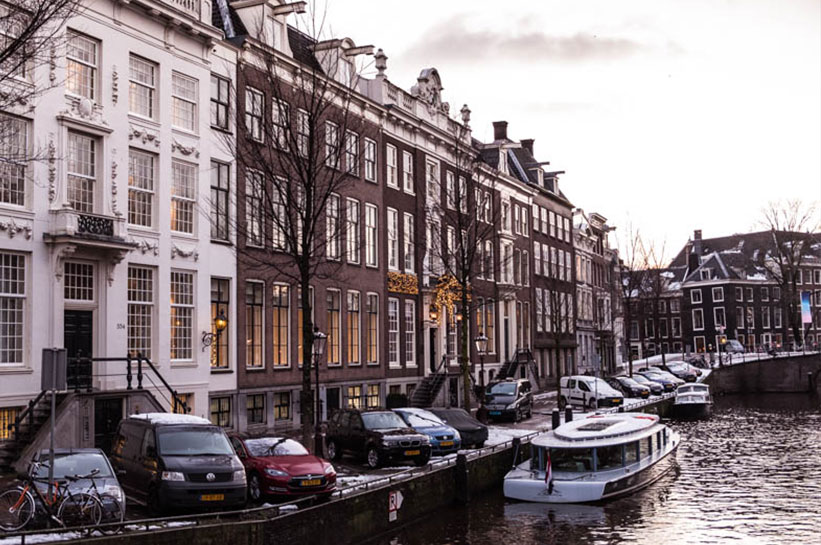 Amsterdam im Winter Herengracht