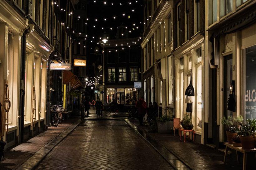 Winterliche Vorweihnachtszeit in Amsterdam