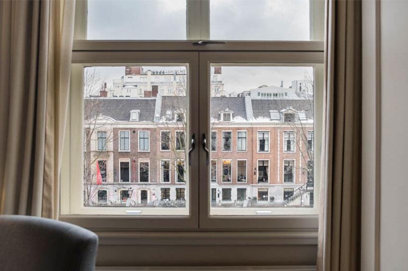 Ausblick auf Herengracht Amsterdam vom Waldorf Astoria