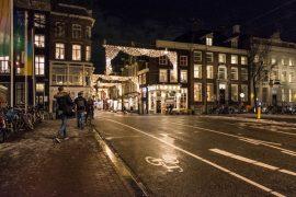 Amsterdam im Winter - Weihnachtsbeleuchtung
