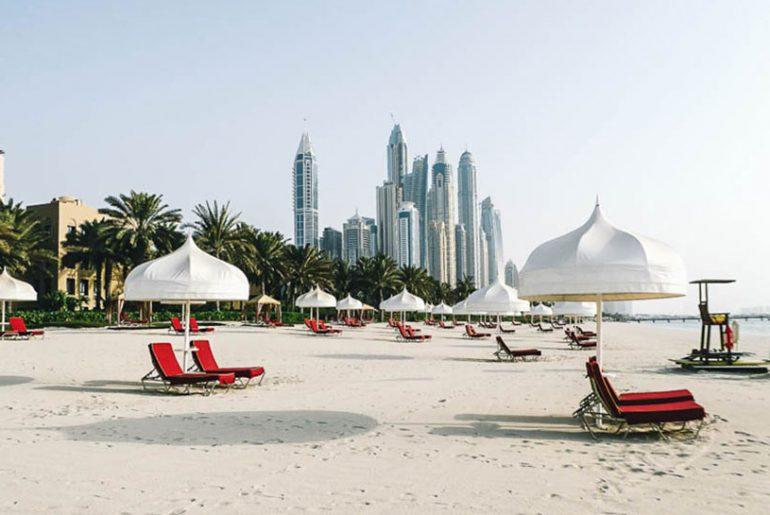 Skyline Dubai Strand