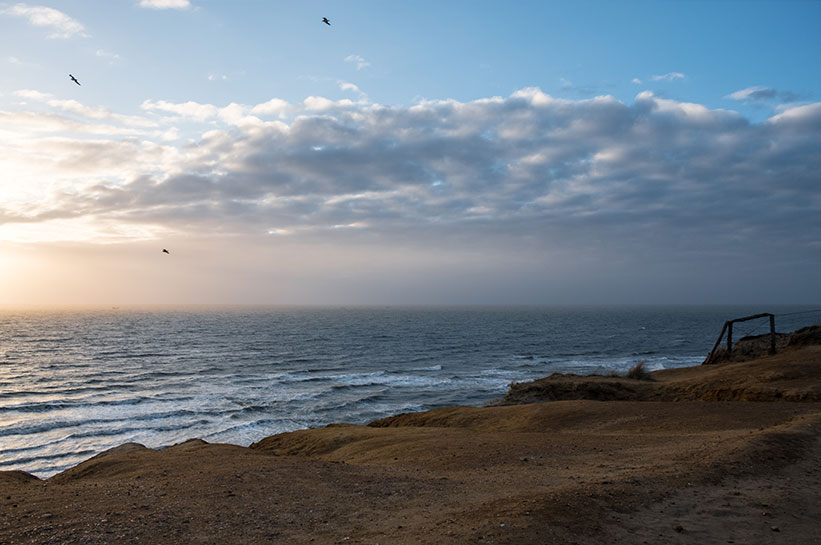 Rotes Kliff Kampen Sonnenuntergang