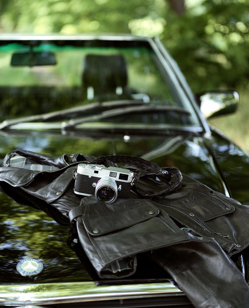 Leica M - A auf Mercedes Cabrio