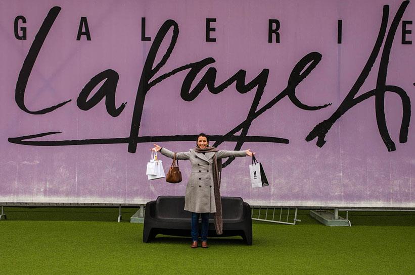 Shopping mit der schwarzen Amex im Lafayett Paris
