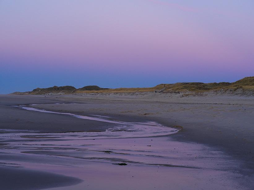 Reisefotografie auf Sylt Strand beim Sonnenuntergang