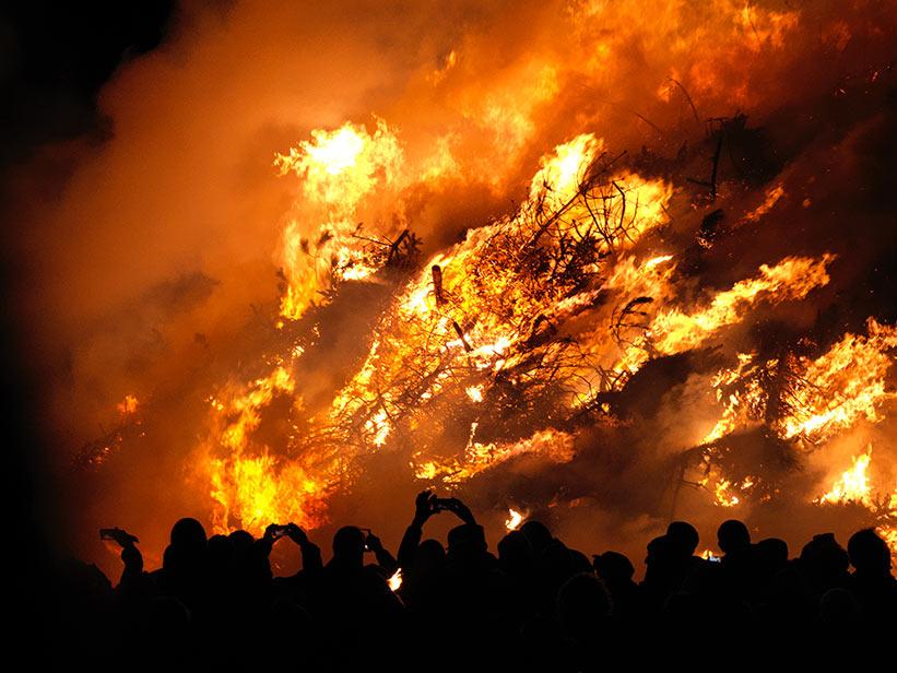 Hasselblad Foto von Feuer auf Sylt