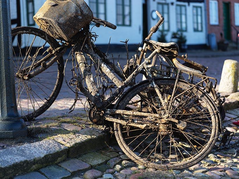 Hasselblad Digital Foto: altes Fahrrad