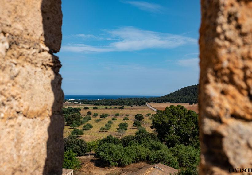 Blick vom Turm auf Canyamel