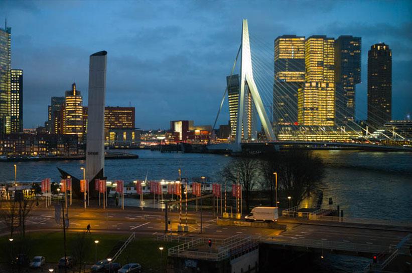 Rotterdam Sehenswürdigkeiten bei Nacht