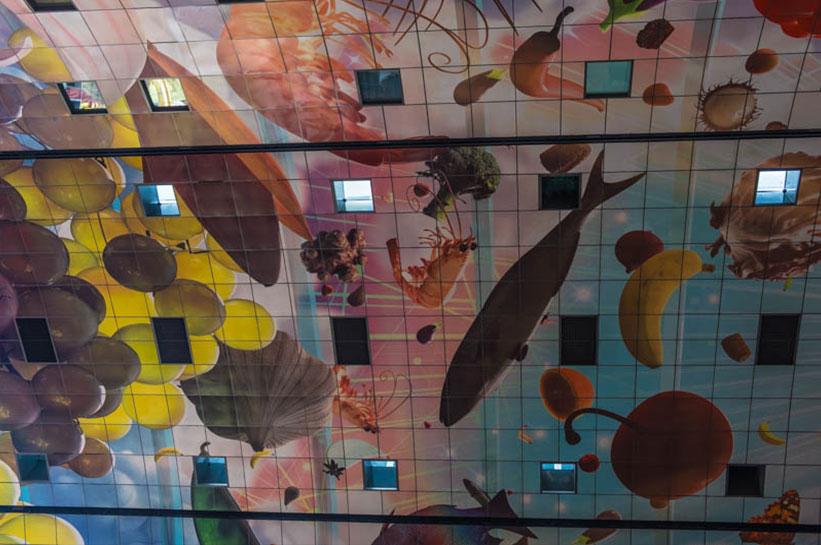 Rotterdam Markthalle Decke Kunst
