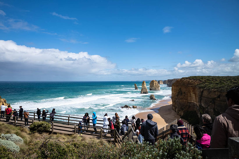 12 Apostel Australien Touristen