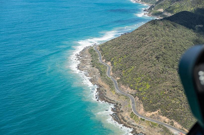 Great Ocean Road von oben