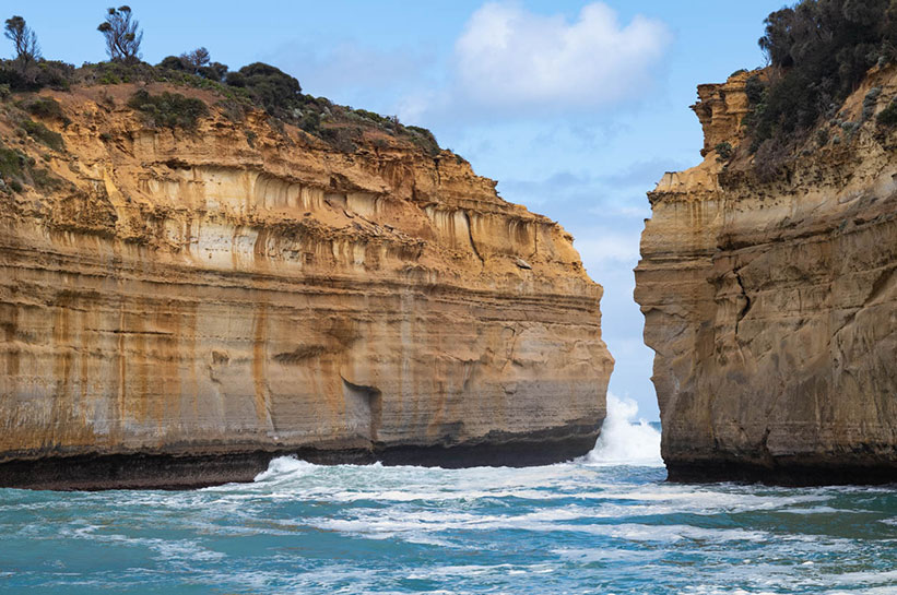 Schlucht Great Ocean Road bei Muttonbird Island